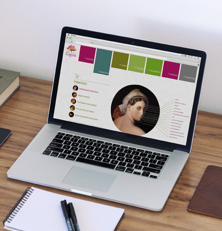 Site Internet du Docteur Gigon, médecine esthétique