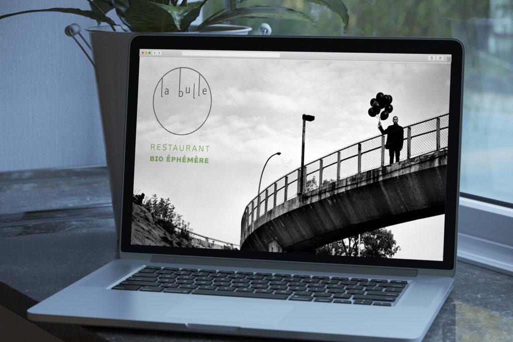 Site internet, La Bulle, par Le Labo Typo