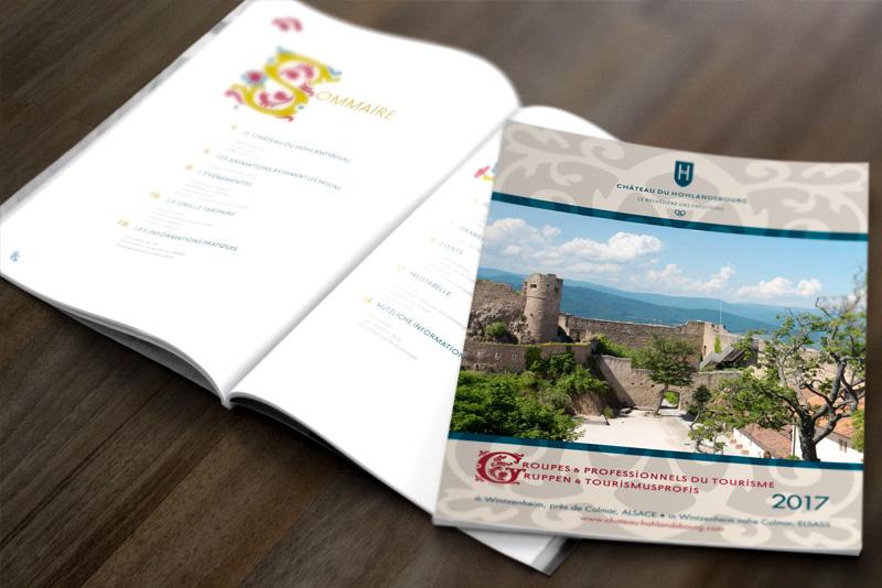 édition de brochure château du Hohlandsbourg