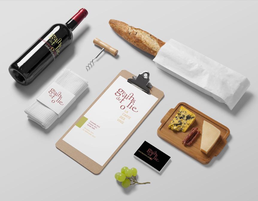 Étiquette de vin: projet grains de folie